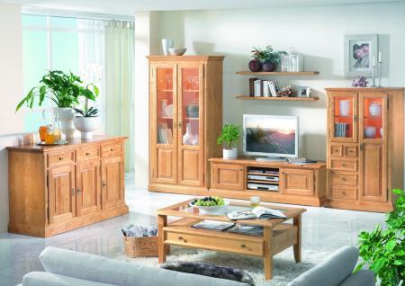 Wohnzimmer Set Kompletteinrichtung Wohnraum Birke massiv honig lackiert