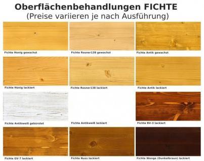 Highboard Vitrine Anrichte Wohnzimmerschrank Eiche massiv lackiert - Vorschau 3