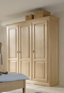 Schrank Kleiderschrank 3-türig Schlafzimmer Fichte massiv gewachst - Vorschau 1