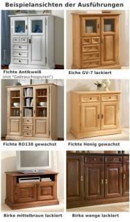 Schrank Kleiderschrank 3-türig Spiegeltür Schlafzimmer Fichte massiv gewachst - Vorschau 5