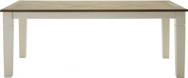 Tisch Esstisch Küchentisch 180 Pinie Wildeiche massiv geölt antik weiß shabby - Vorschau 1