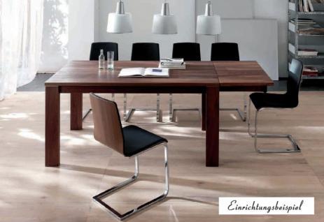 Esstisch Tisch Esszimmertisch Zargenauszug Auszug Esszimmer Nussbaum geölt - Vorschau 2