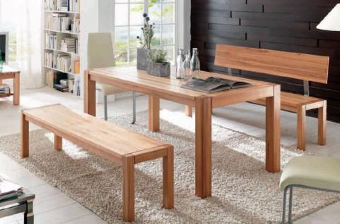 Essgruppe Essbankgruppe Tisch Bänke Kernbuche massiv natur geölt