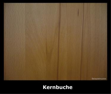 Hutablage klein mit Kleiderstange Kernbuche Wildeiche massiv geölt Garderobe - Vorschau 3