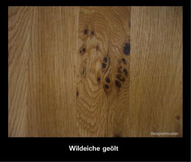 Hutablage klein mit Kleiderstange Kernbuche Wildeiche massiv geölt Garderobe - Vorschau 2