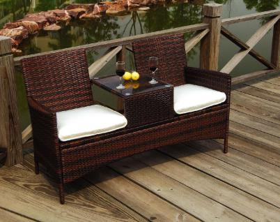 gartenbank polyrattan online bestellen bei yatego. Black Bedroom Furniture Sets. Home Design Ideas