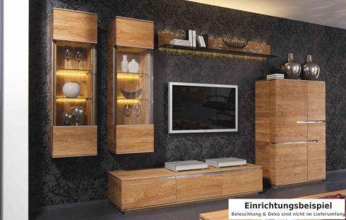Wohnwand Wohnzimmer Wohnzimmerwand Asteiche Eiche massiv natur geölt