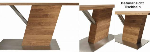 Esstisch Tisch Esszimmertisch Säulenesstisch Esszimmer Asteiche vollmassiv geölt - Vorschau 1