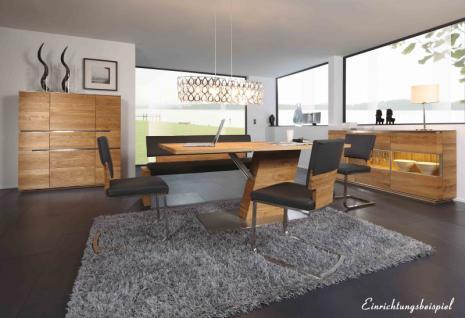 Esstisch Tisch Esszimmertisch Säulenesstisch Esszimmer Asteiche vollmassiv geölt - Vorschau 3
