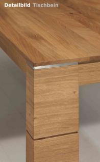 Tischgruppe Essgruppe Esszimmer Tisch Stuhl Gestellauszug Asteiche Leder massiv - Vorschau 3