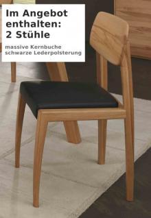 Stuhl Set Stühle Massivholzstuhl Esszimmerstuhl Kernbuche massiv geölt