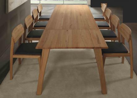 Tischgruppe Esstischgruppe Gestellauszug Stühle Esszimmer Kernbuche massiv - Vorschau 1