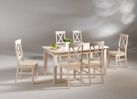 Tisch Esszimmer Esstisch mit Schubladen 180 Kiefer massiv