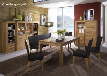 highboard sideboard vitrine esszimmer kernbuche. Black Bedroom Furniture Sets. Home Design Ideas