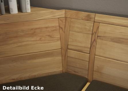 Eckbankgruppe Tischgruppe Kernbuche massiv geölt Esszimmer Lederbezug - Vorschau 3
