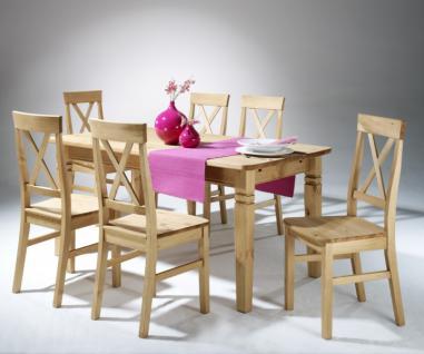 Tischgruppe Esstisch Küchenstuhl Esszimmerstühle Kiefer massiv