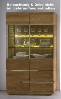 highboard vitrine eiche massiv bestellen bei yatego. Black Bedroom Furniture Sets. Home Design Ideas