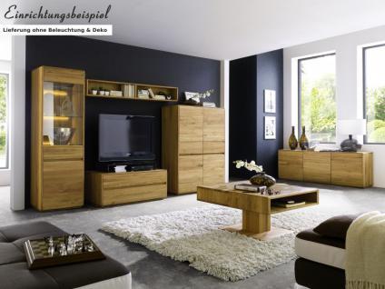 Wohnzimmer Wohnwand Kompletteinrichtung Wohnbereich Asteiche massiv geölt - Vorschau 1