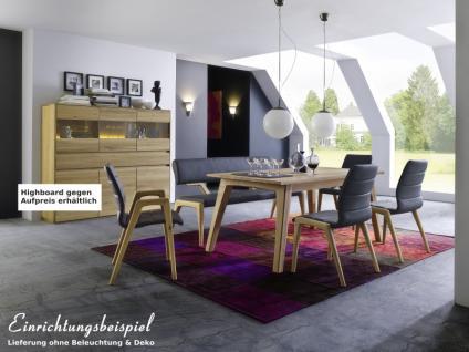 Esszimmergruppe Essbankgruppe Tischgruppe Bank Stühle Esstisch Asteiche massiv - Vorschau 2