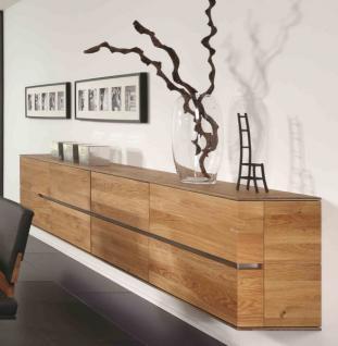 Hängeboard Sideboard Hängeschrank Wohnzimmer Asteiche Eiche massiv geölt bianco - Vorschau 1