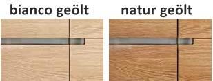 Hängeboard Sideboard Hängeschrank Wohnzimmer Asteiche Eiche massiv geölt bianco - Vorschau 5