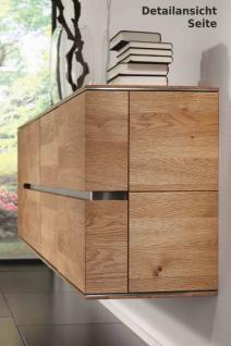 Hängeboard Sideboard Hängeschrank Wohnzimmer Asteiche Eiche massiv geölt bianco - Vorschau 2