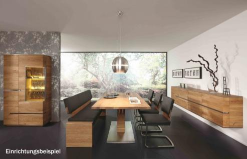 Hängeboard Sideboard Hängeschrank Wohnzimmer Asteiche Eiche massiv geölt bianco - Vorschau 4