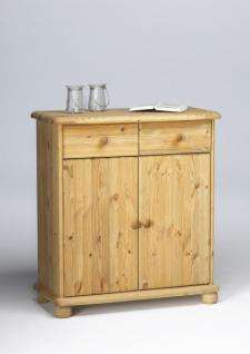 Kommode Anrichte 2-trg Sideboard Highboard Kiefer massiv gelaugt geölt