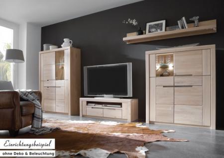 Mediaboard TV-Board Lowboard Wildeiche massiv Bianco geölt - Vorschau 2