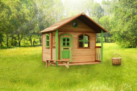 Spielhaus Spielhütte Gartenhaus für Kinder Holzspielhütte TÜV geprüft sicher - Vorschau 3