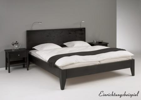 Bett Systembett auch in Überlänge Kiefer massiv schwarz lackiert Schlafzimmer - Vorschau 4