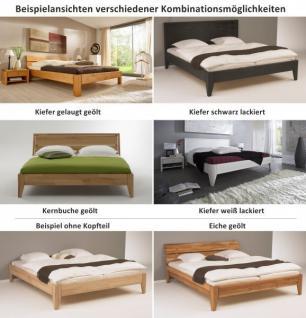 Bett Systembett auch in Überlänge Kiefer massiv schwarz lackiert Schlafzimmer - Vorschau 3