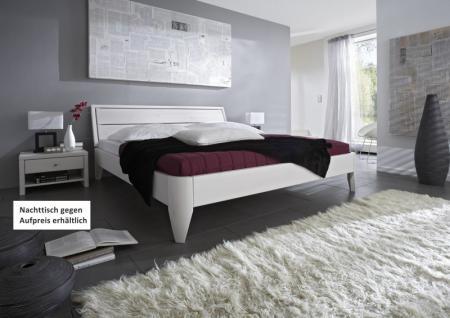 Bett Ehebett Kiefer massiv weiß lackiert Überlänge möglich Varianten vielfalt - Vorschau 1
