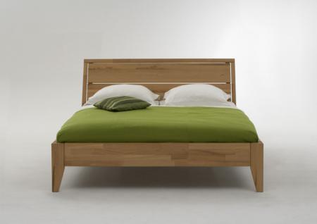 Bett Doppelbett Kernbuche massiv geölt Bettsystem Massivholzbett
