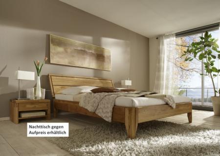 Bett Doppelbett massive rustikale Eiche Überlänge rustikal runde Beine - Vorschau 1
