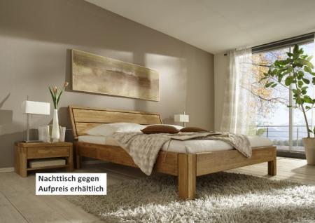 Bett Ehebett Doppelbett massive rustikale Eiche Überlänge Bettsystem - Vorschau 1