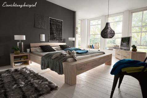 Nachttisch Kommode Nachtkonsole Balkeneiche Eiche massiv White Wash rustikal - Vorschau 3