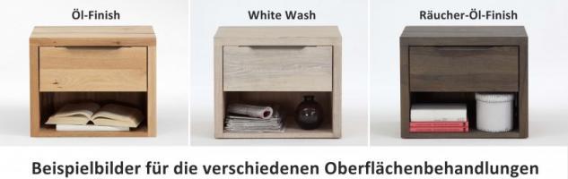 Nachttisch Kommode Nachtkonsole Balkeneiche Eiche massiv White Wash rustikal - Vorschau 2