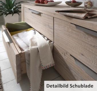 Kommode Sideboard Wuchsrissen Balkeneiche Eiche massiv White Wash Metallgriffe - Vorschau 3