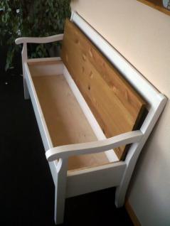 bank kuechenbank truhenbank mit lehne sitzbank kiefer. Black Bedroom Furniture Sets. Home Design Ideas
