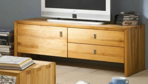 lowboard tv board tv anrichte konsole kernbuche massiv. Black Bedroom Furniture Sets. Home Design Ideas