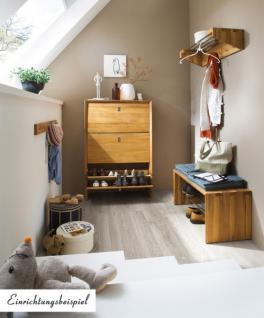 schuhbank bank sitzbank flur diele kernbuche massiv ge lt. Black Bedroom Furniture Sets. Home Design Ideas