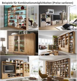 Regalwand Wohnwand TV Wand System Kernbuche Wildeiche White Wash massiv - Vorschau 3