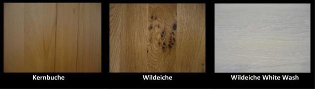 Regalwand Wohnwand TV Wand System Kernbuche Wildeiche White Wash massiv - Vorschau 2