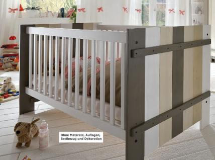 Babybett Kinderbett Burg Bett mit Lattenrost Schlupfsprosse Kiefer massiv - Vorschau 1