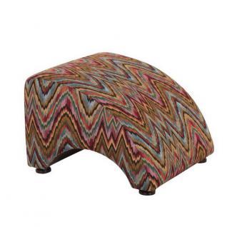 Sessel Liegesessel Relaxsessel mit Hocker Retro Stil ozean Muster farbig bunt - Vorschau 2