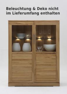 Highboard Vitrine Wohnzimmer Esszimmer Kernbuche Rotkernbuche massiv geölt natur - Vorschau 1