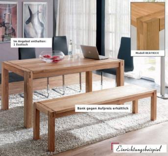 Esstisch Tisch Esszimmertisch Küche Esszimmer Eiche massiv geölt - Vorschau 1