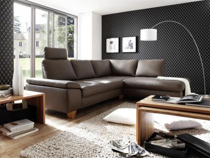 Ledergarnitur Wohnlandschaft Polsterecke Garnitur Couch mit Funktion Echtleder - Vorschau 1