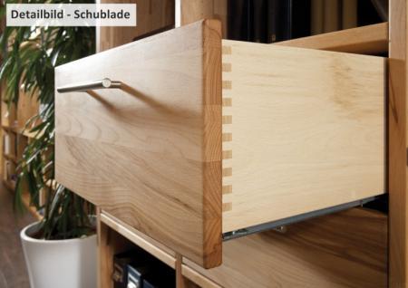 Regal Bücherregal Wohnwand Wildeiche Kernbuche massiv geölt individuell planbar - Vorschau 3
